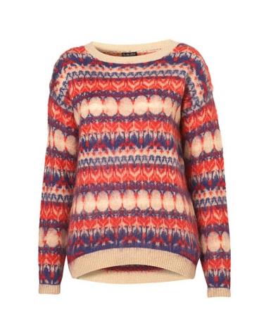 Topshop Knitted Jacquard Jumper