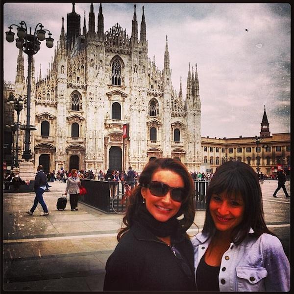 Kristin Davis in Milan