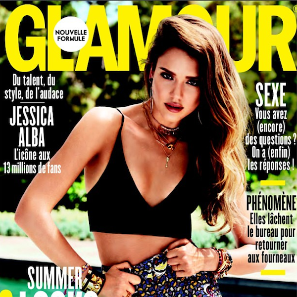 Jessica Alba Covers French Glamour