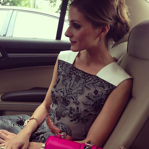 Olivia Palermo on the way to Valentino