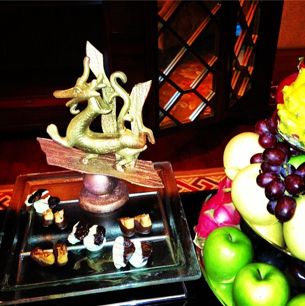 Rihanna's Gilded Dessert