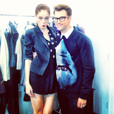 Coco Rocha and Brad Goreski