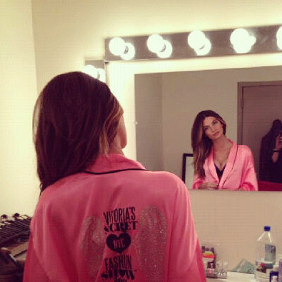 Lily Aldridge Gets Ready for the VS Fashion Show