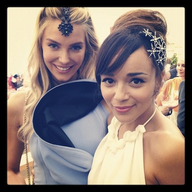 Ashley Madekwe Meets Miss Universe