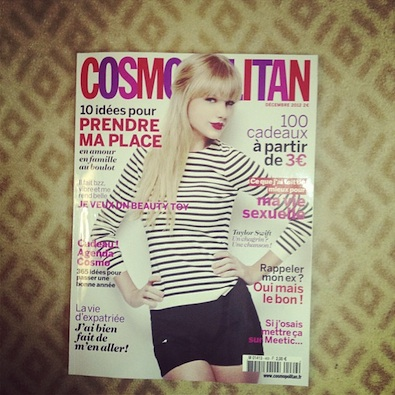 Taylor Swift on the Cover of Cosmo