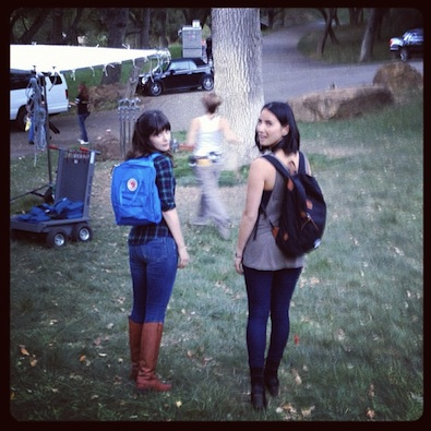 Zooey Deschanel and Olivia Munn Bring Backpacks Back