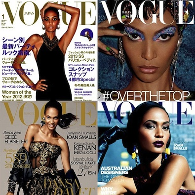 Joan Smalls' Four Vogue Covers
