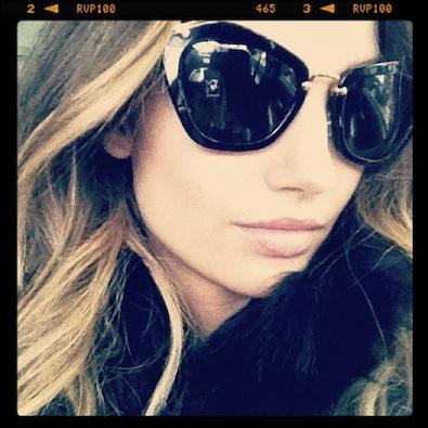 Lily Aldridge's New Sunglasses