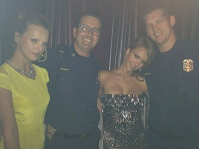 Jessica Alba Likes a Man in Uniform