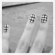 Chloe Moretz Has Houndstooth Hands