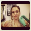 Jessica Alba Gets A Birthday Piercing