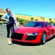 Coco Rocha Drives a Race Car
