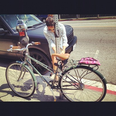 Jamie Chung On Two Wheels