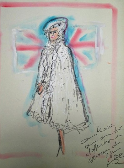 Karl Lagerfeld Dresses the Queen
