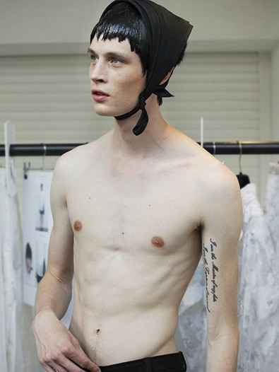 Backstage at Jonathan Anderson