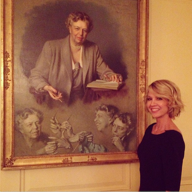 Jenna Elfman at the White House