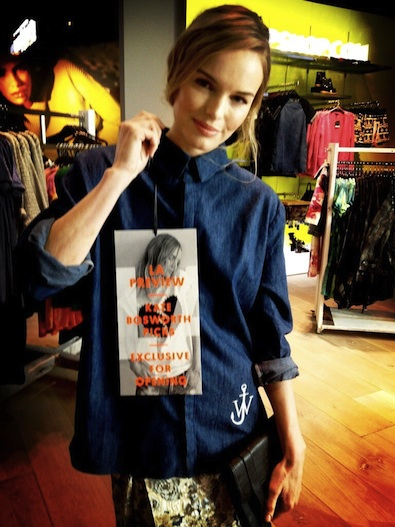 Kate Bosworth at J.W. Anderson for Topshop