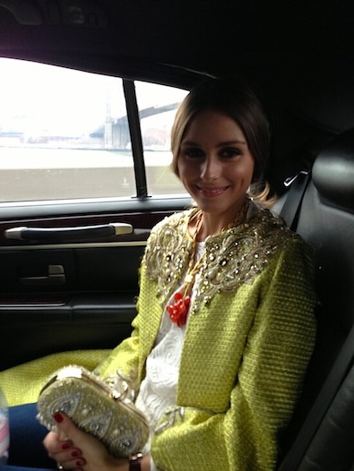 Olivia Palermo on the Way to Marchesa