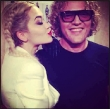 Rita Ora Kisses Peter Dundas