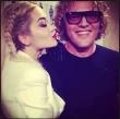 Rita Ora Kisses Peter Dundas