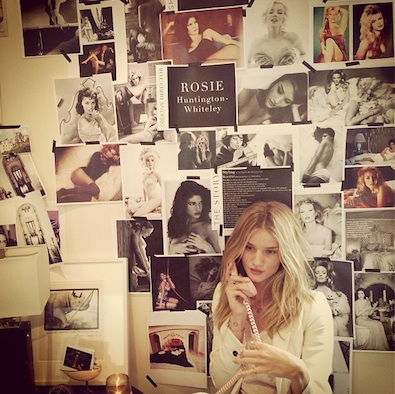 Rosie Huntington-Whiteley Works on the Violet Files