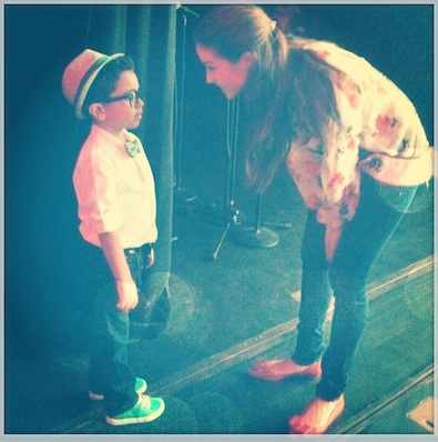 Olivia Culpo and Mini Bruno Mars