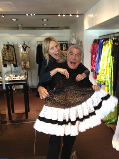 Cavalli Goofs Around with Kurkova
