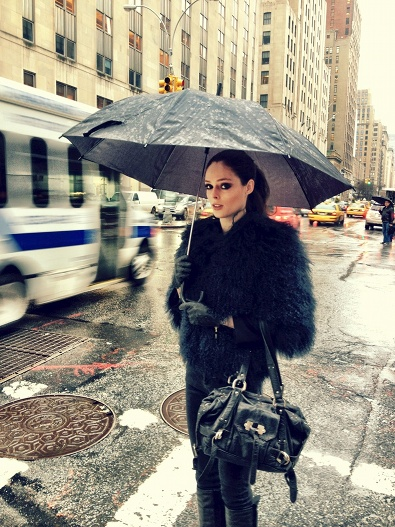 Coco Rocha in the Rain