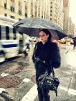 Coco Rocha in the Rain