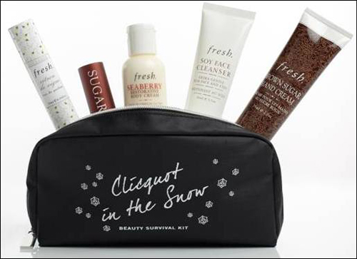 Fresh for Clicquot in the Snow Beauty Survival Kit