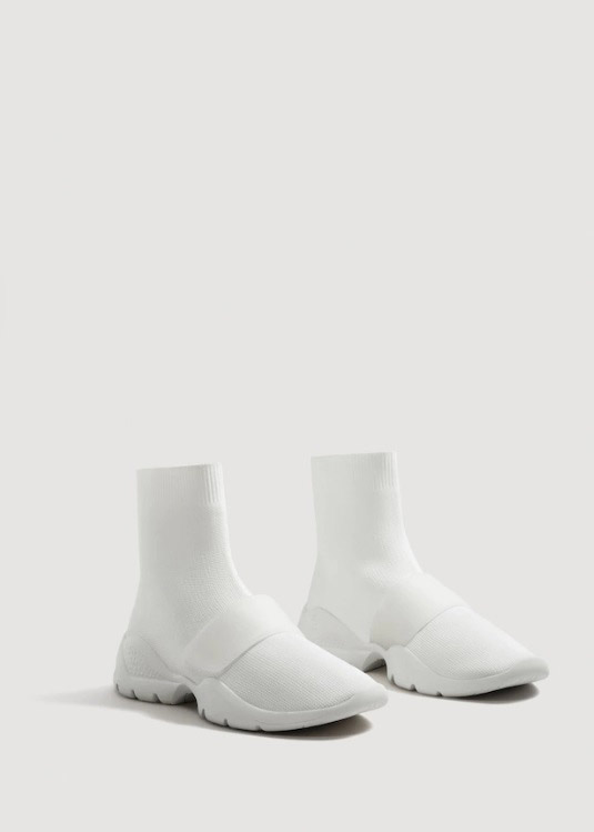 Mango  Velcro Sneakers Are the Latest 'Ugly' Shoes to Be Embraced By the Fashion Set mango sole sock sneakers