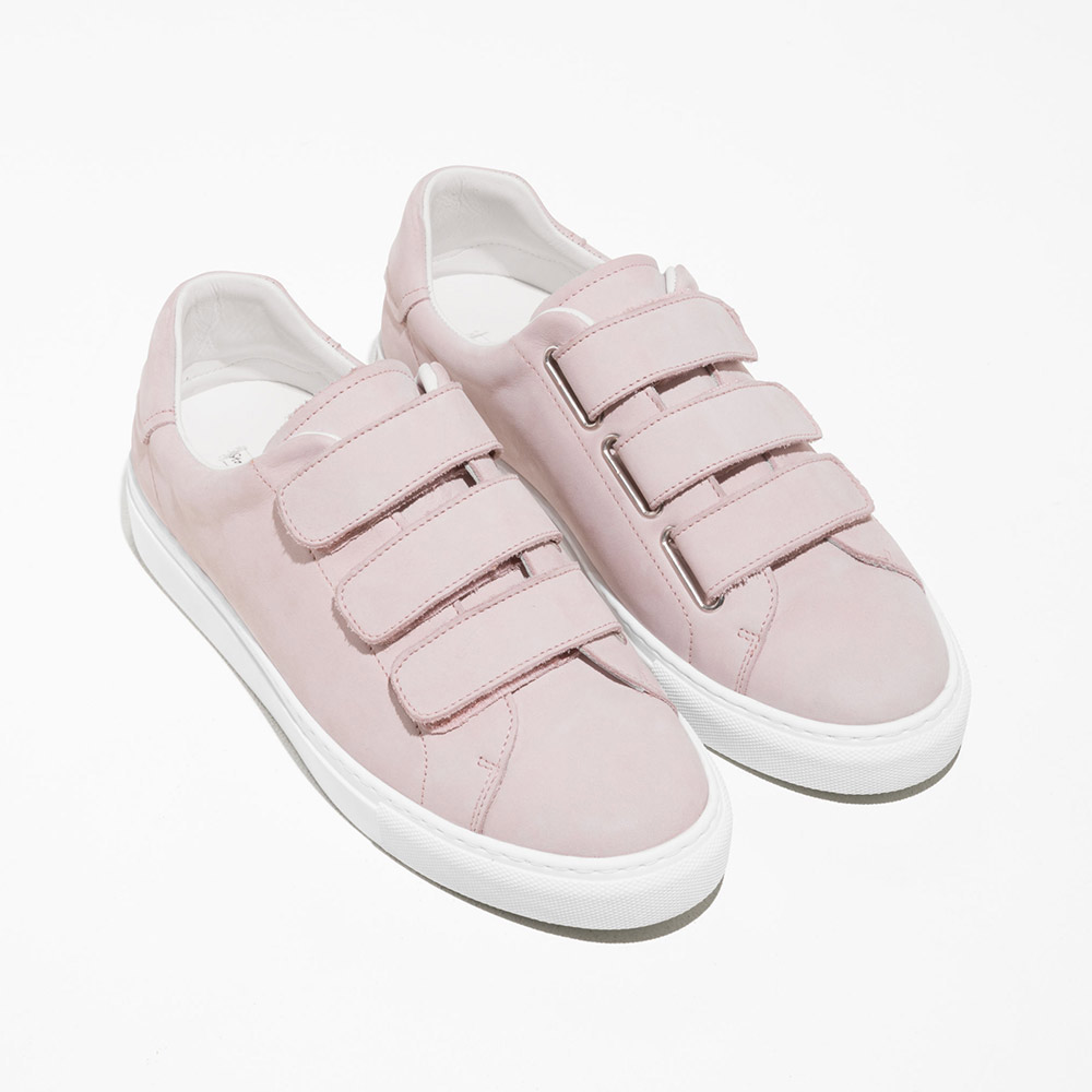& Other Stories  Velcro Sneakers Are the Latest 'Ugly' Shoes to Be Embraced By the Fashion Set other stories scratch strap patent leather sneakers