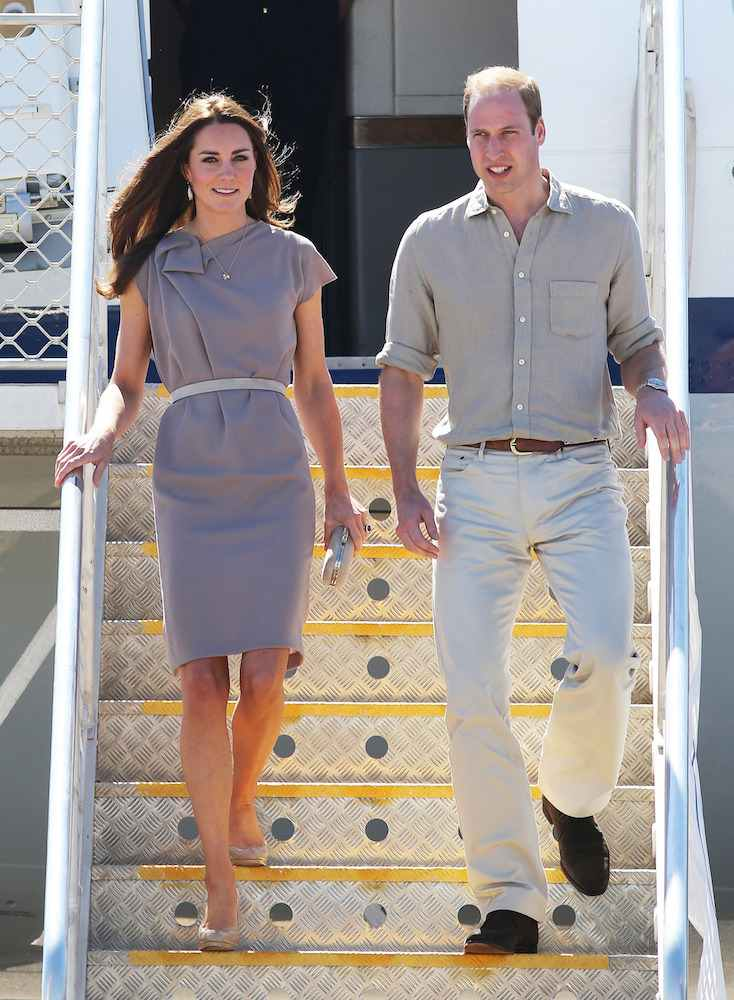 Catherine, Duchess of Cambridge at Yulara Airport