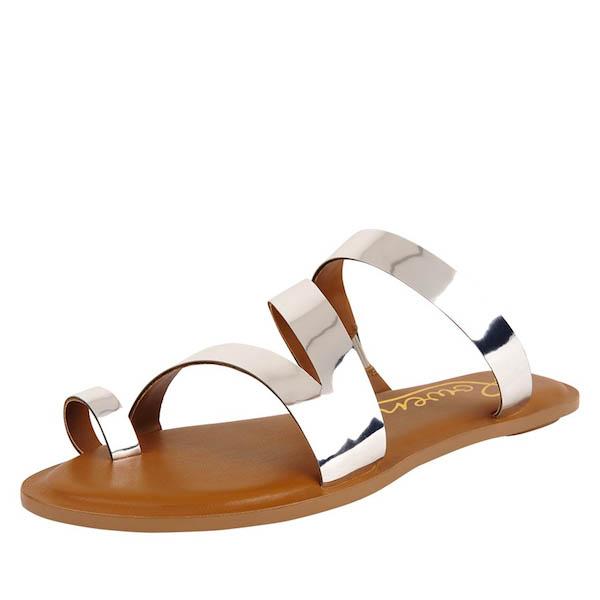 Metallic Sandals: