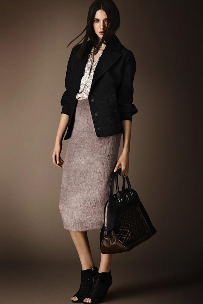 Burberry's Fur Skirt