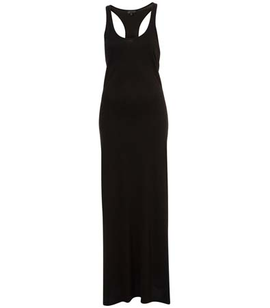 Topshop Black Vest Maxi Dress