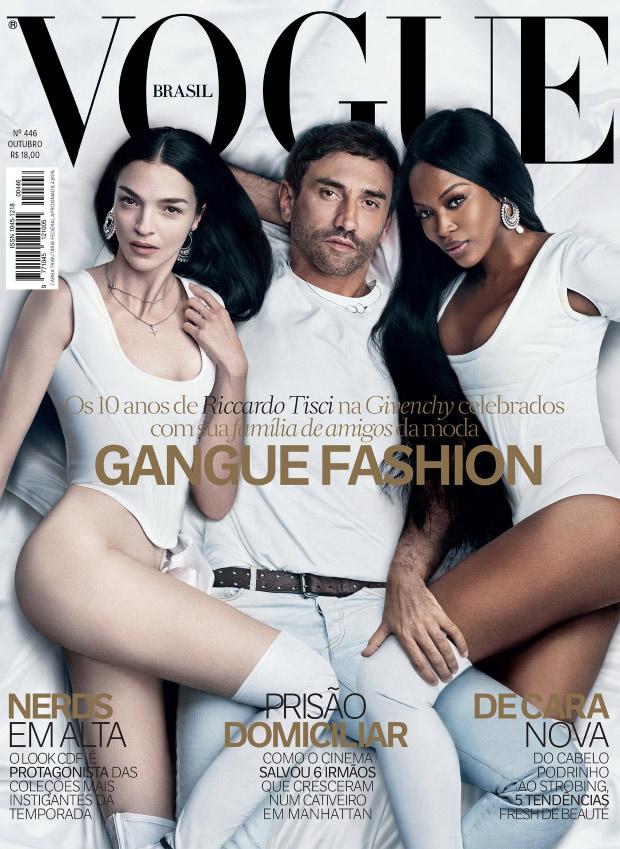 Vogue Brazil October 2015: Riccardo Tisci, Naomi Campbell and Mariacarla Boscono by Luigi & Iango