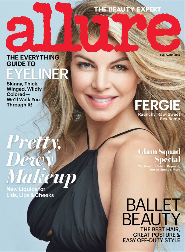 Allure February 2015: Fergie by Patrick Demarchelier