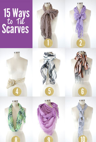 15 Chic and Creative Ways to Tie Scarves