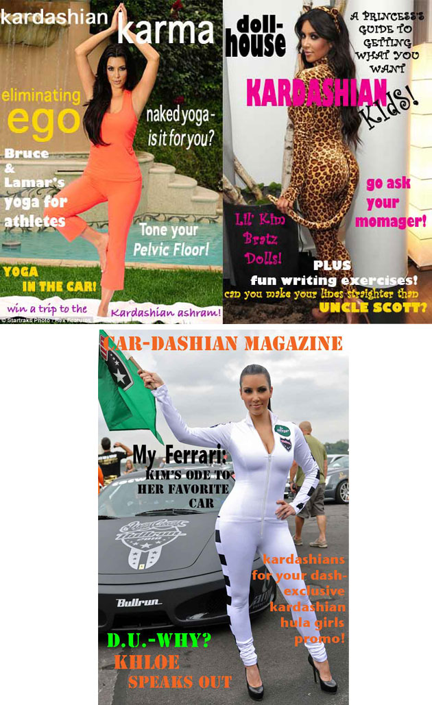 kardashian magazines imagined