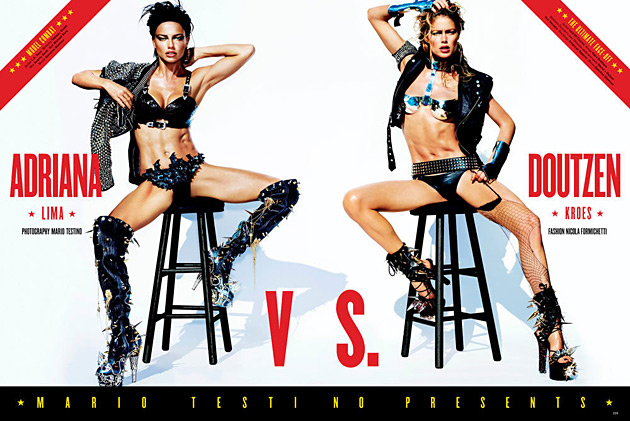 V Magazine April 2012 - Adriana Lima & Doutzen Kroes