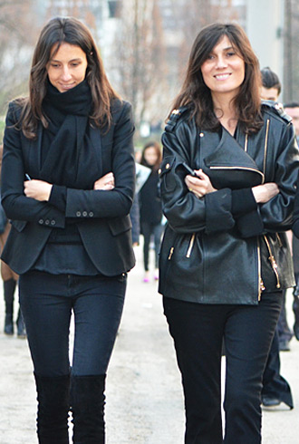 Geraldine Saglio and Emmanuelle Alt - Paris Fashion Week fall 2012