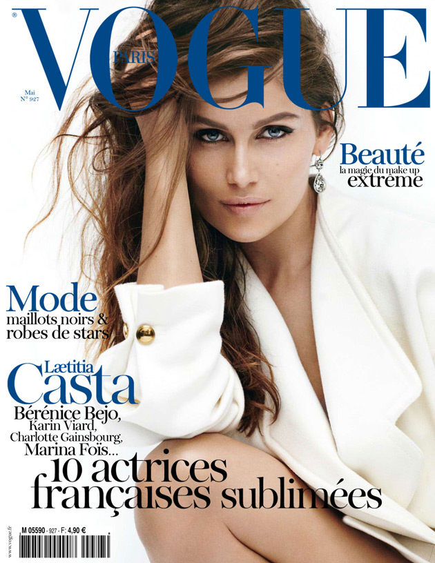 Vogue Paris May 2012 Laetitia Casta by Mario Testino