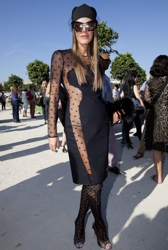 Anna Dello Russo Paris Fashion Week Spring 2012 Chloe Oct 2011 cropped