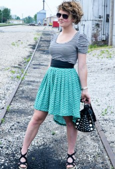 DIY: High-Low Skirt