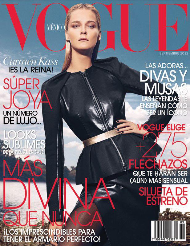 Vogue Mexico September 2012 - Carmen Kass photographed by Koray Birand