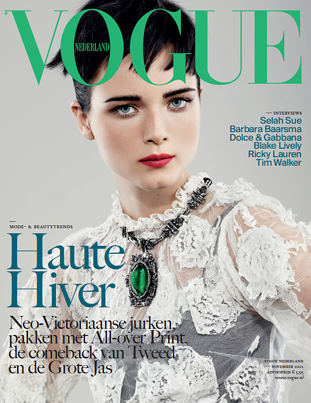 Vogue Netherlands November 2012 - Anna de Rijk photographed by Marc de Groot