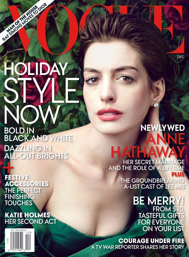 Vogue December 2012 - Anne Hathaway photographed by Annie Leibovitz
