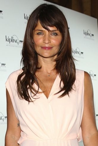 Helena Christensen launching her new Kipling collaborative bag collection London cropped