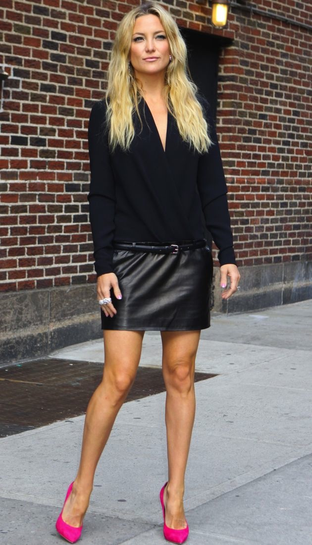 Look of the Day: Kate Hudson Visits David Letterman in ...